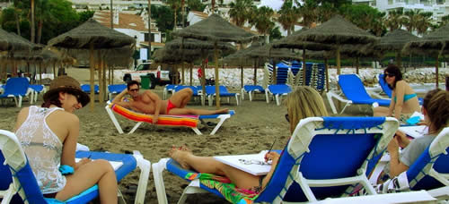 Hen Drawing classes, Hen party, Hen weekends on the Costa del Sol, Spain Marbella Hen nights