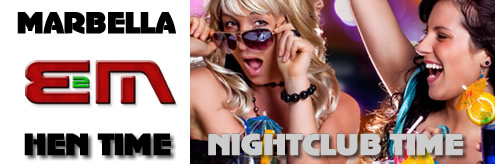 Hen Weekends, Nightclubs Costa del Sol, Spain Bar crawls in Marbella, Puerto Banus