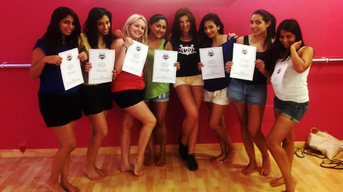 Hen Weekends pole dancing certificates in Marbella, Costa del Sol, Spain