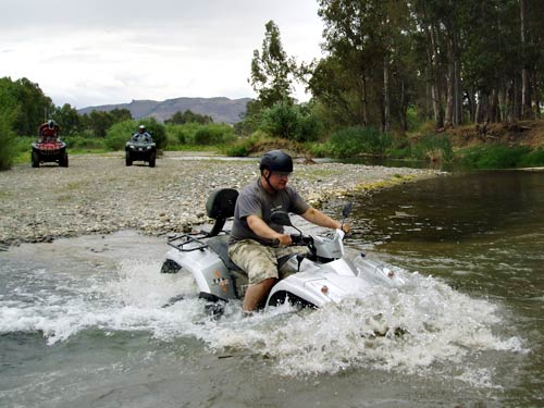 Quad Biking Through Rivers