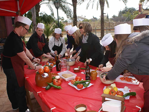 Marbella events Companies- Gazpacho Making